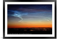 Noctilucent Clouds over Ayrshire, Framed Mounted Print