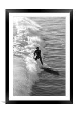 Catching a wave                             , Framed Mounted Print