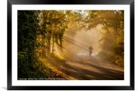 Early Morning Ride, Framed Mounted Print