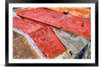 Mahon rooftops, Framed Mounted Print