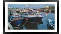 Seahouses Harbour, Framed Mounted Print