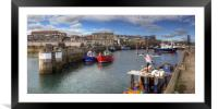 Fishing Boats at Seahouses Harbour - Panorama, Framed Mounted Print