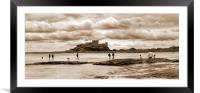 Storm clouds building over Castle - Panorama, Framed Mounted Print