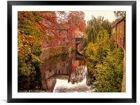 The Canal Near Skipton Castle, Framed Mounted Print