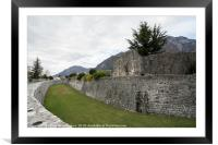 The city walls in Venzone, Framed Mounted Print