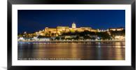 Panoramic view of the castle in Budapest, Framed Mounted Print