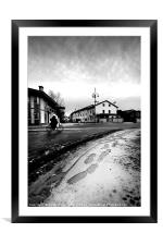 cityscape in winter, Framed Mounted Print