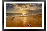 Sandy reflections, Framed Mounted Print