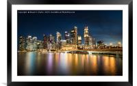 Downtown Singapore, Framed Mounted Print