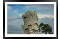 Merlion, Singapore, Framed Mounted Print
