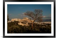 The Acropolis from Filopappou Hill, Framed Mounted Print