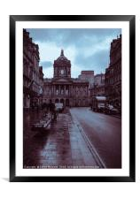 A Rainy Day in Castle Street, Liverpool., Framed Mounted Print