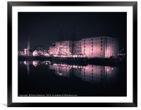Reflections on the Past at the Maritime Museum., Framed Mounted Print