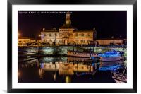 The Clock House Ramsgate Harbour at night , Framed Mounted Print