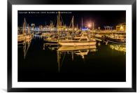 Reflections in Ramsgate Marina, Framed Mounted Print