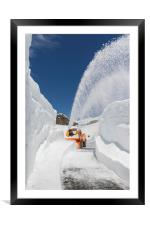 Snow blower, Framed Mounted Print