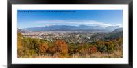 Grenoble Panorama looking to the east, Framed Mounted Print