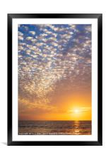 Sea, sun and clouds, Framed Mounted Print