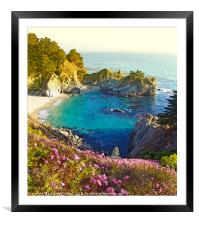 McWay Falls, Big Sur, California, Framed Mounted Print