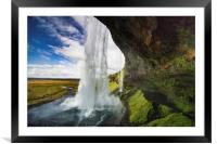 Seljalandsfoss are one of the impressive waterfall, Framed Mounted Print