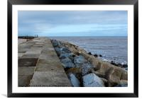 East Pier, Scarborough, North Yorkshire, Framed Mounted Print