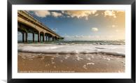 Boscombe Pier from the beach, Framed Mounted Print