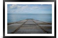 Jetty Off Pegwell Beach, Framed Mounted Print
