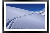 The Powder Trail, Framed Mounted Print