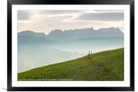 Appenzell Fence, Framed Mounted Print
