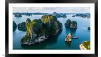 Ha Long Bay and 1000 islands , Framed Mounted Print