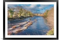 The River Tees from The Demesnes, Barnard Castle, Framed Mounted Print
