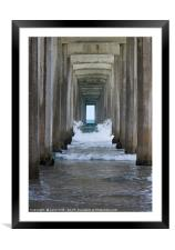 Pier of Black's Beach, San Diego, Framed Mounted Print
