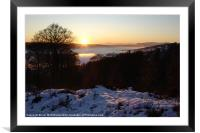 Campsie Sunset, Framed Mounted Print