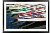 Rowing Boats, Framed Mounted Print