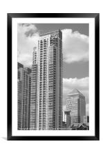 Docklands Apartment Tower, Framed Mounted Print
