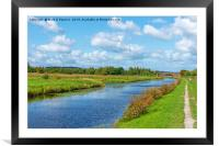 Canal Tow Path, Framed Mounted Print