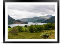 view down to Ullswater, Framed Mounted Print