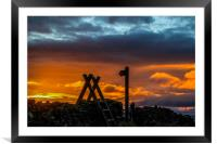 This way to the Sunset, Framed Mounted Print