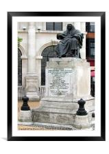 JUDGE TINDAL'S MONUMENT,CHELMSFORD,ESSEX, Framed Mounted Print