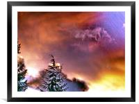 Twilight Broadcast , Framed Mounted Print
