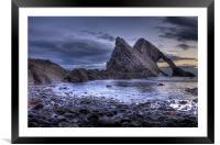 Bow Fiddle Rock Scotland, Framed Mounted Print