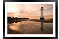 Perch Rock Lighthouse, Framed Mounted Print