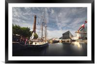 Liverpool Docks & Pumphouse, Framed Mounted Print