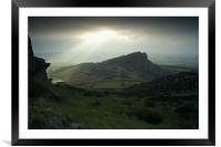Dawn at Hen Cloud, Framed Mounted Print