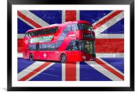 New London Red Bus, Framed Mounted Print
