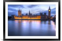 Big Ben and the houses of Parliament, Framed Mounted Print