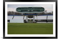 Lords Cricket ground media centre, Framed Mounted Print