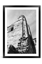 Kelso Abbey Spire , Framed Mounted Print