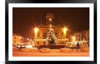 Snow in the Square, Framed Mounted Print