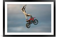 Stunt Rider 1, Framed Mounted Print
